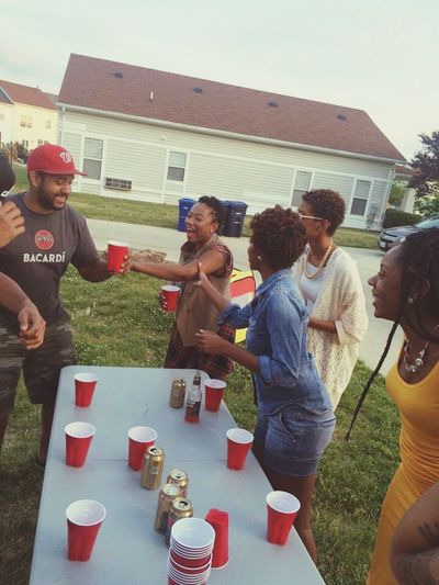 Party Time! Flip Cup Cookout Summer Family Time