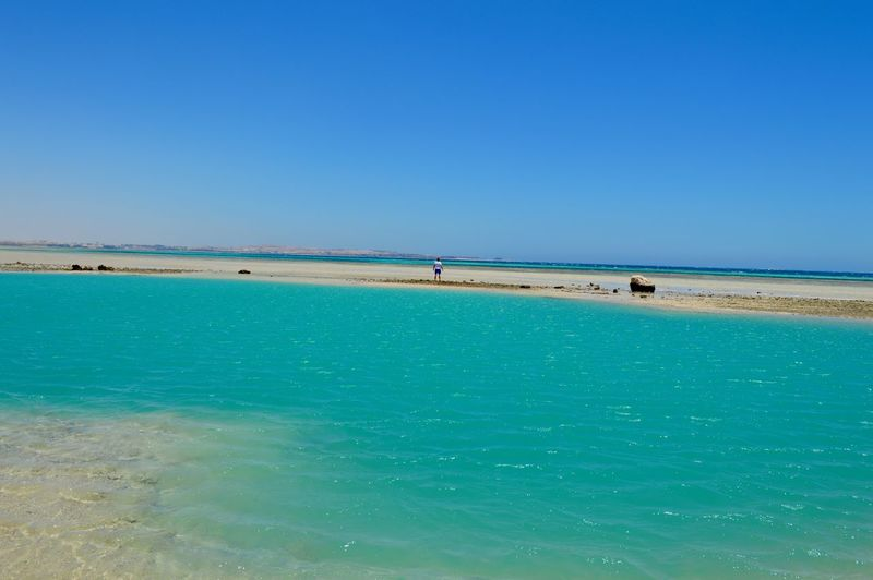 Beach Beauty In Nature Clear Sky Day Horizon Over Water Orange Bay Outdoors Red Sea Sea Sky Travel Destinations
