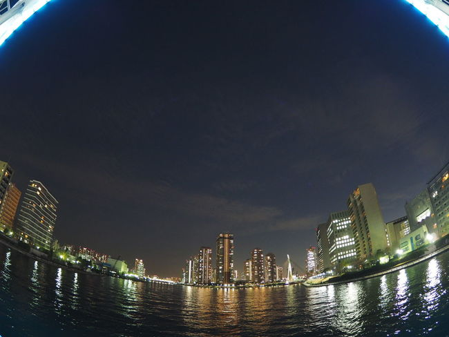 View Nightphotography Night Lights Night Sumidariver Japan Photography Japan Taking Photos Taking Pictures Relaxing From My Point Of View Fisheye Streetphotography Cityscapes River River View Bridge Riverside Photography Riverside