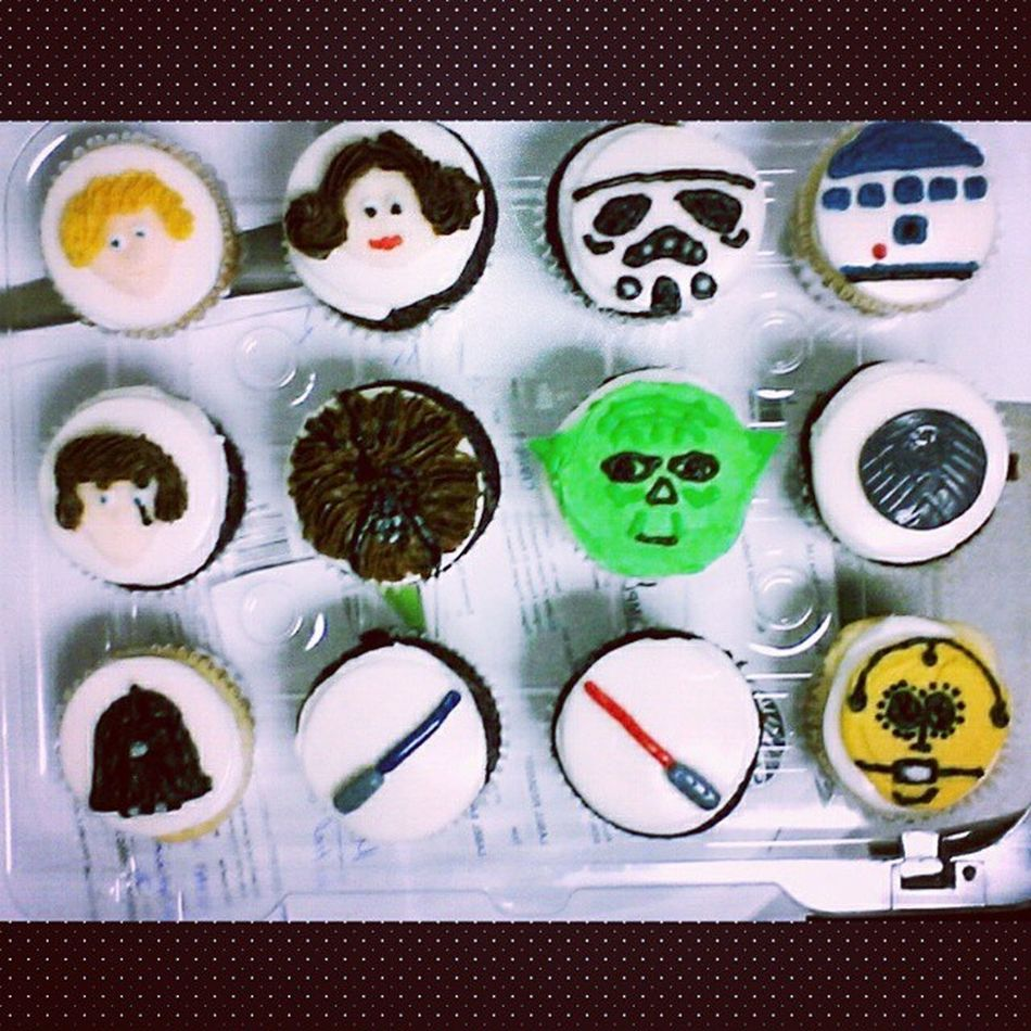 Amazing cupcakes from my amazing friends Theforceisstrongwiththisone Starwarscupcakes Starwars Nerdgasm