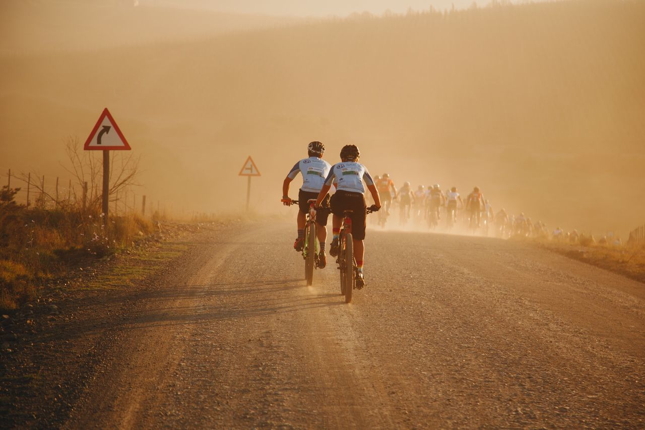Cycling Cape Epic Two People Real People Riding Outdoors Men Day Nature Togetherness People