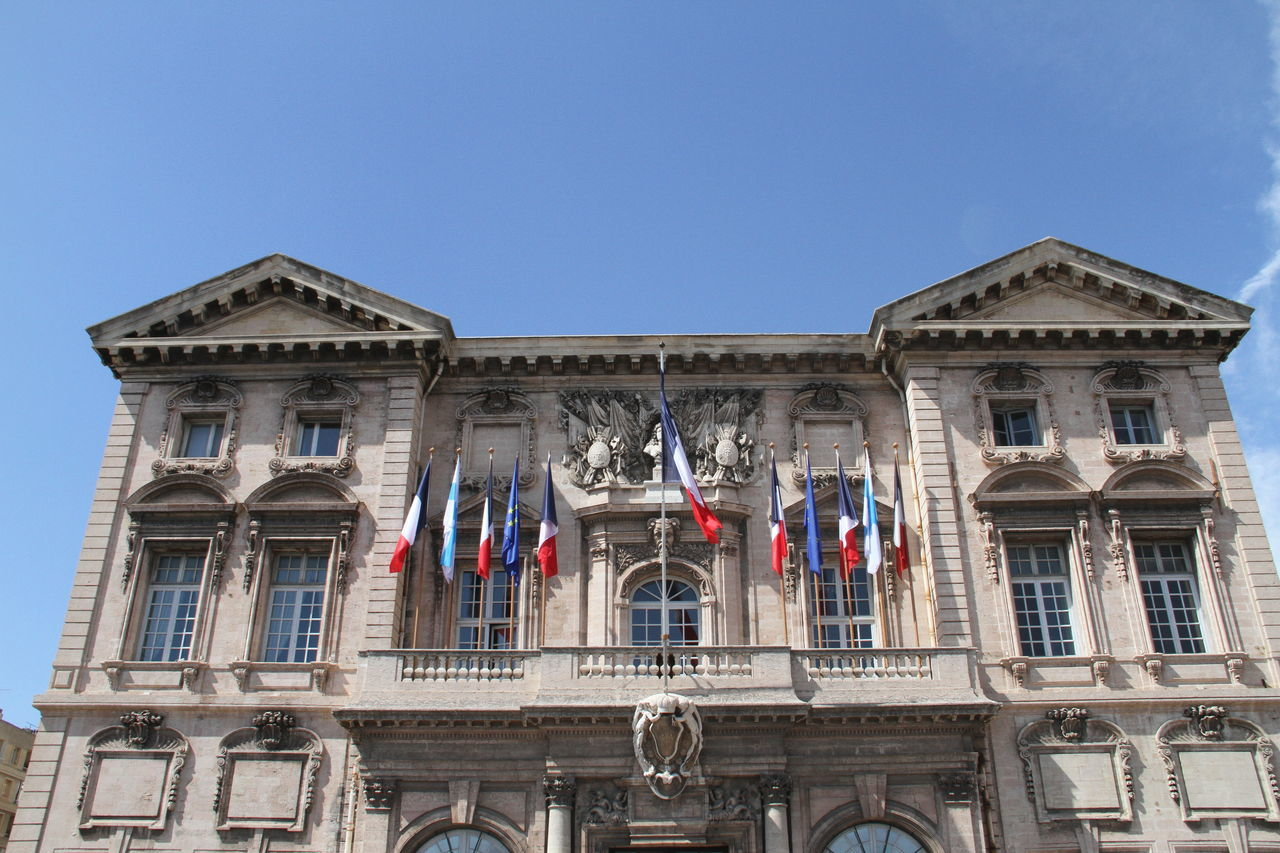 Marseille City Hall Architecture Building City Hall France French Flag Marseille