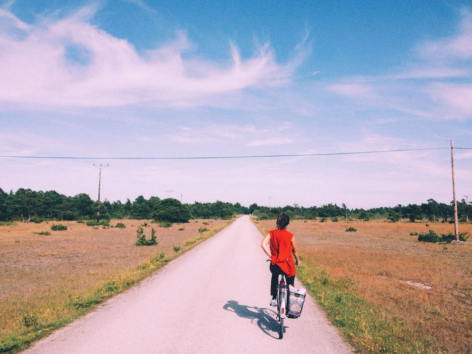 Beautiful stock photos of road, Beauty In Nature, Bicycle, Cloud - Sky, Day