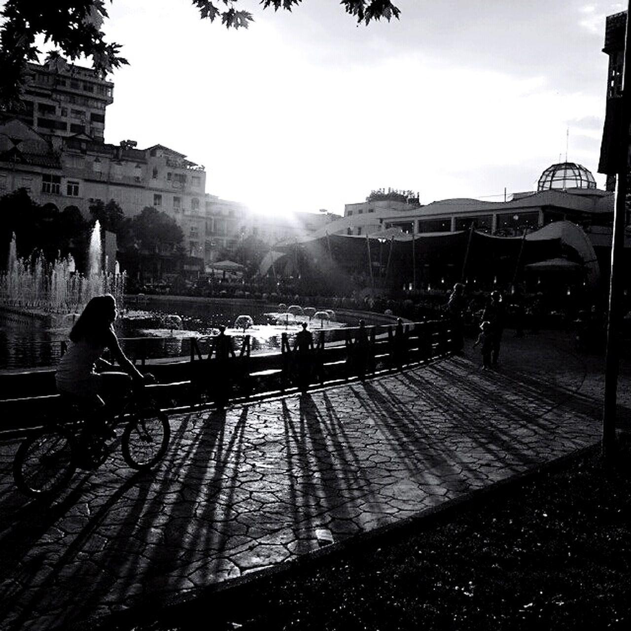 Black And White Bike Ride Bike Week Albania I ❤️ Tirana