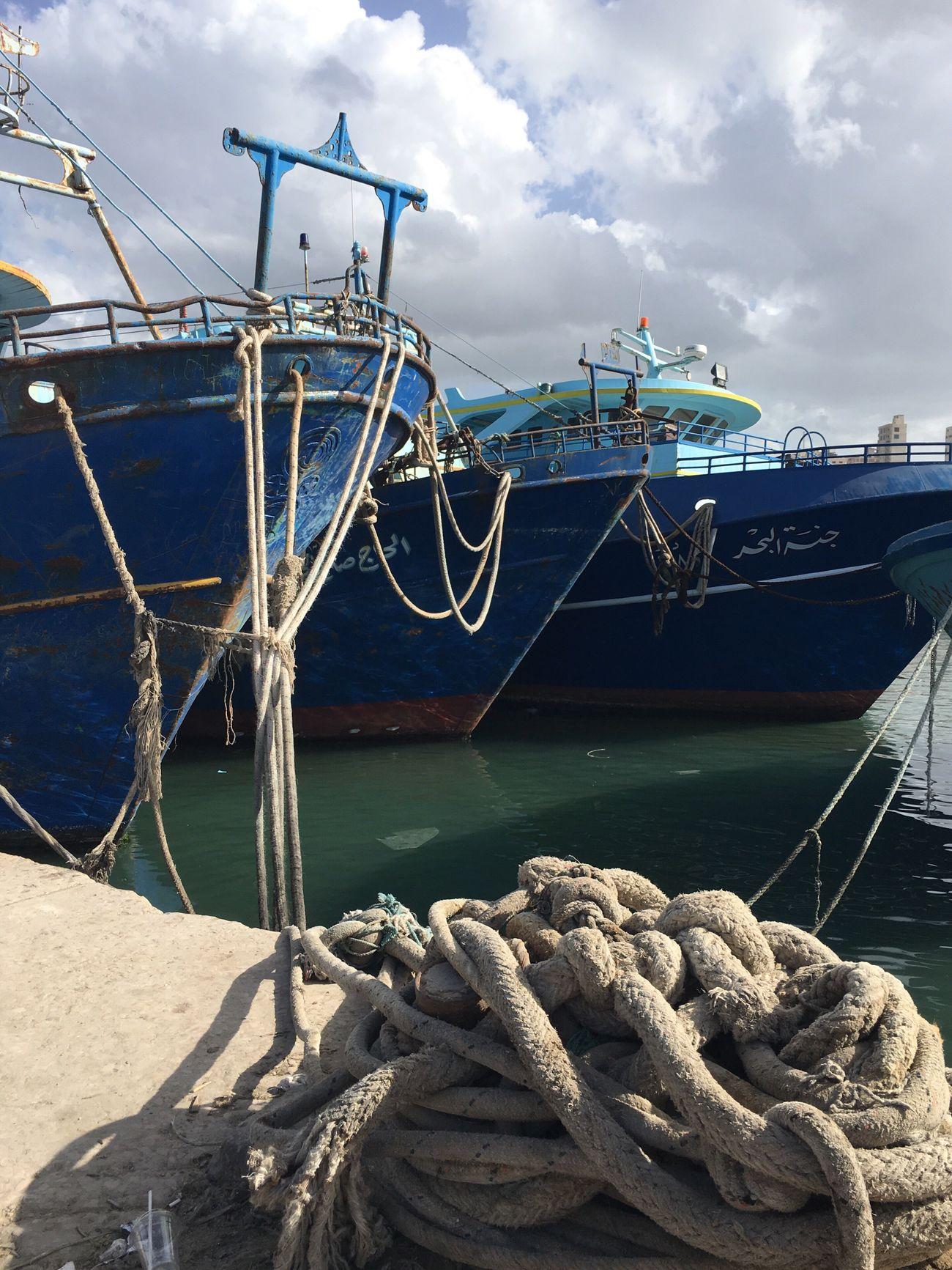 Rope Alexandria Egypt Alexandria Ships Ships⚓️⛵️🚢 Old Rust Rusty Rustic Harbour Sea Sea And Sky Sea Life