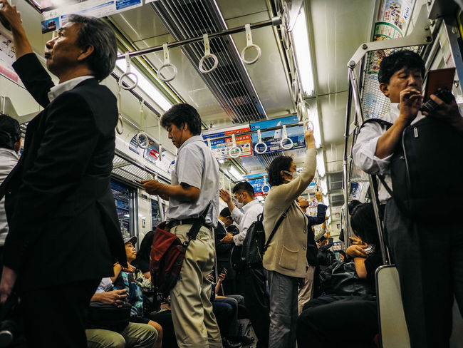 Ishikawacho, Yokohama, 2016 Commuting Japan Japanese  Kanto My Commute Selfie Standing Train Yokohama