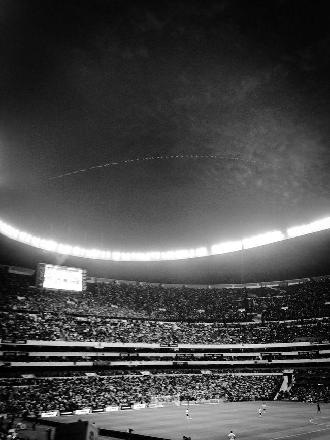 Soccer⚽ Futebol Estadioazteca Mexico Futbol Football Stadium Sports EyeEm Best Shots Sky Clouds