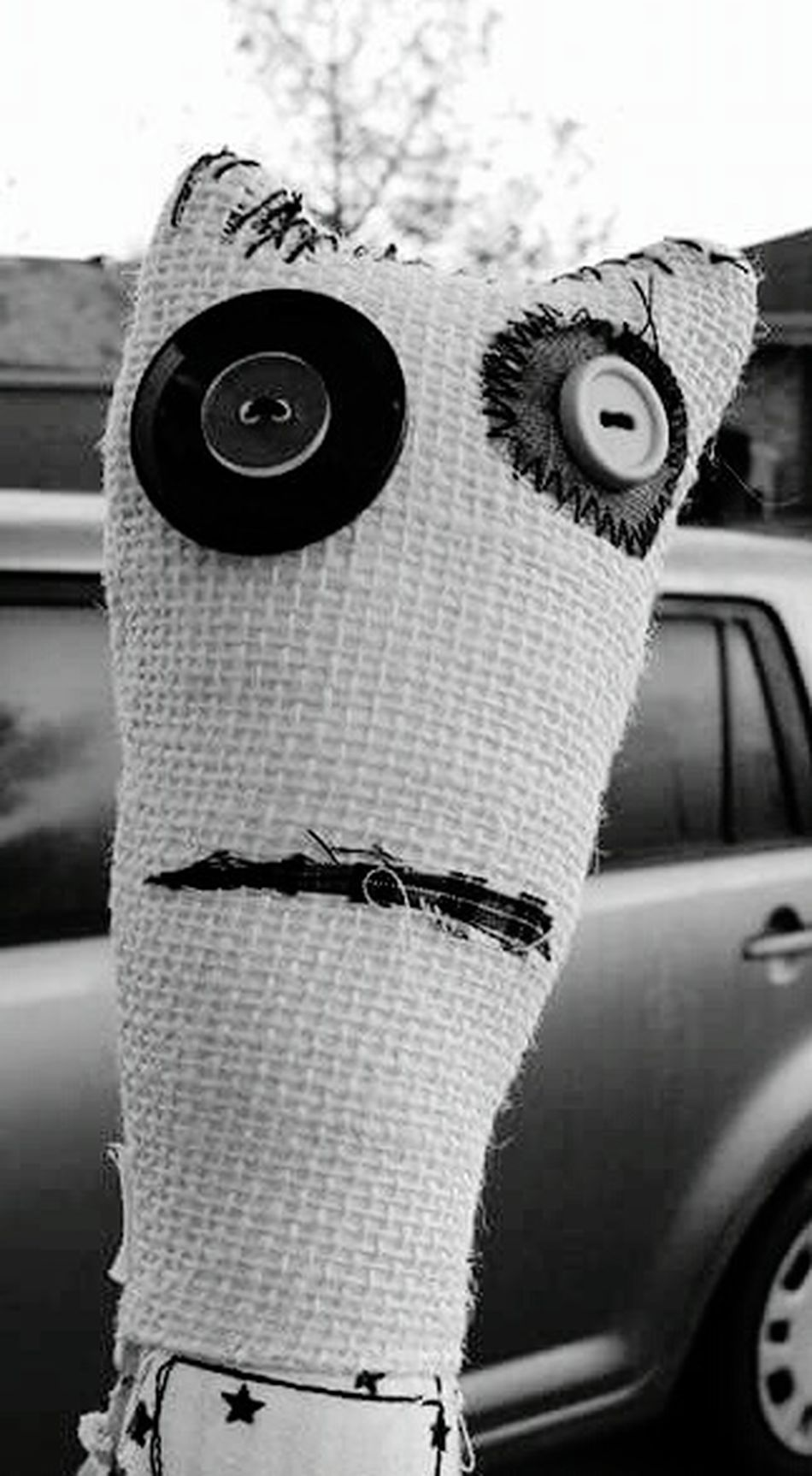 Doll Face Stitches Disappointment Face My Outlet Expression Button Eyes Black And White