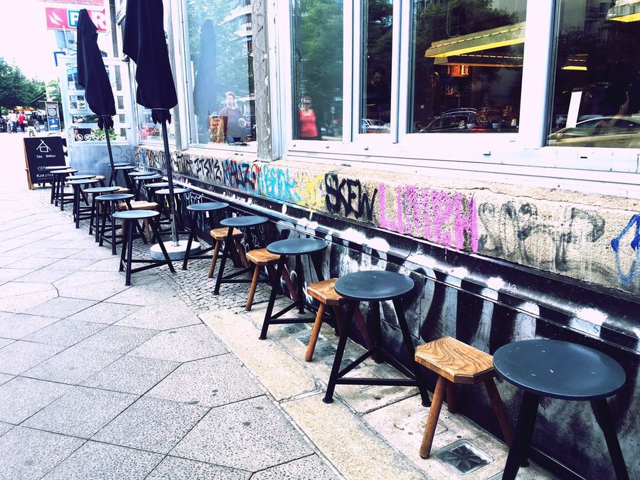 Chair Cafe Window Outdoors Thebarnberlin Coffee Cofee Time Coffeeshop Berlin Roastery Thebarn 珈琲 コーヒー Cafe Time Liebeberlin Art Kunst Table Restaurant Sidewalk Cafe Outdoor Cafe Day Architecture No People Building Exterior Awning City