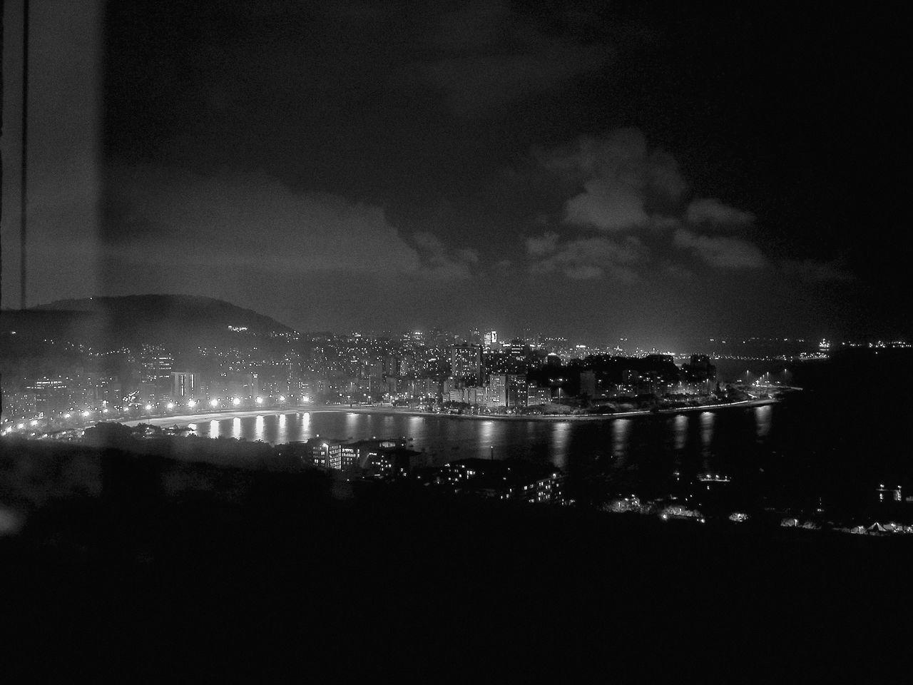 Baía De Guanabara Blackandwhite Photography Capital Cities  City City Life Cityscape Dark Illuminated Night Rio De Janeiro Rio De Janeiro Eyeem Fotos Collection⛵ Scenics Sky Travel Destinations Water Cities At Night