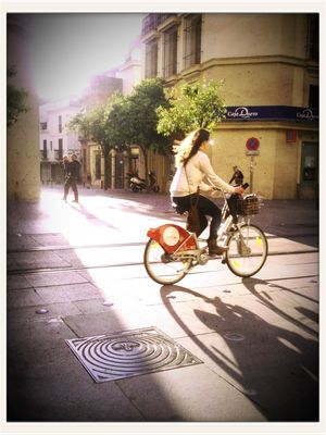 riding bike in SEVILLA by Eli
