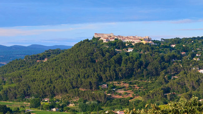 Le Castellet in Provence - Architecture Beauty In Nature Building Exterior Built Structure Distant Growth Le Castellet Mountain Mountain Range Nature Outdoors Plant Provence Scenics Sky Tourism Town Tranquil Scene Tranquility Travel Destinations Wide