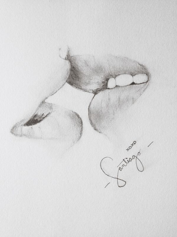 Drawing Drawing Of The Day Kisses❌⭕❌⭕ My Drawing