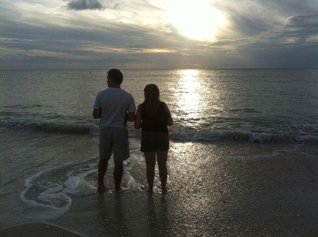 Bonita Beach, Florida sunset. Two of my favorite people enjoying life! Bonita Beach Sunsets Gulf Of Mexico USA People And Places EyeEm Nature Lover
