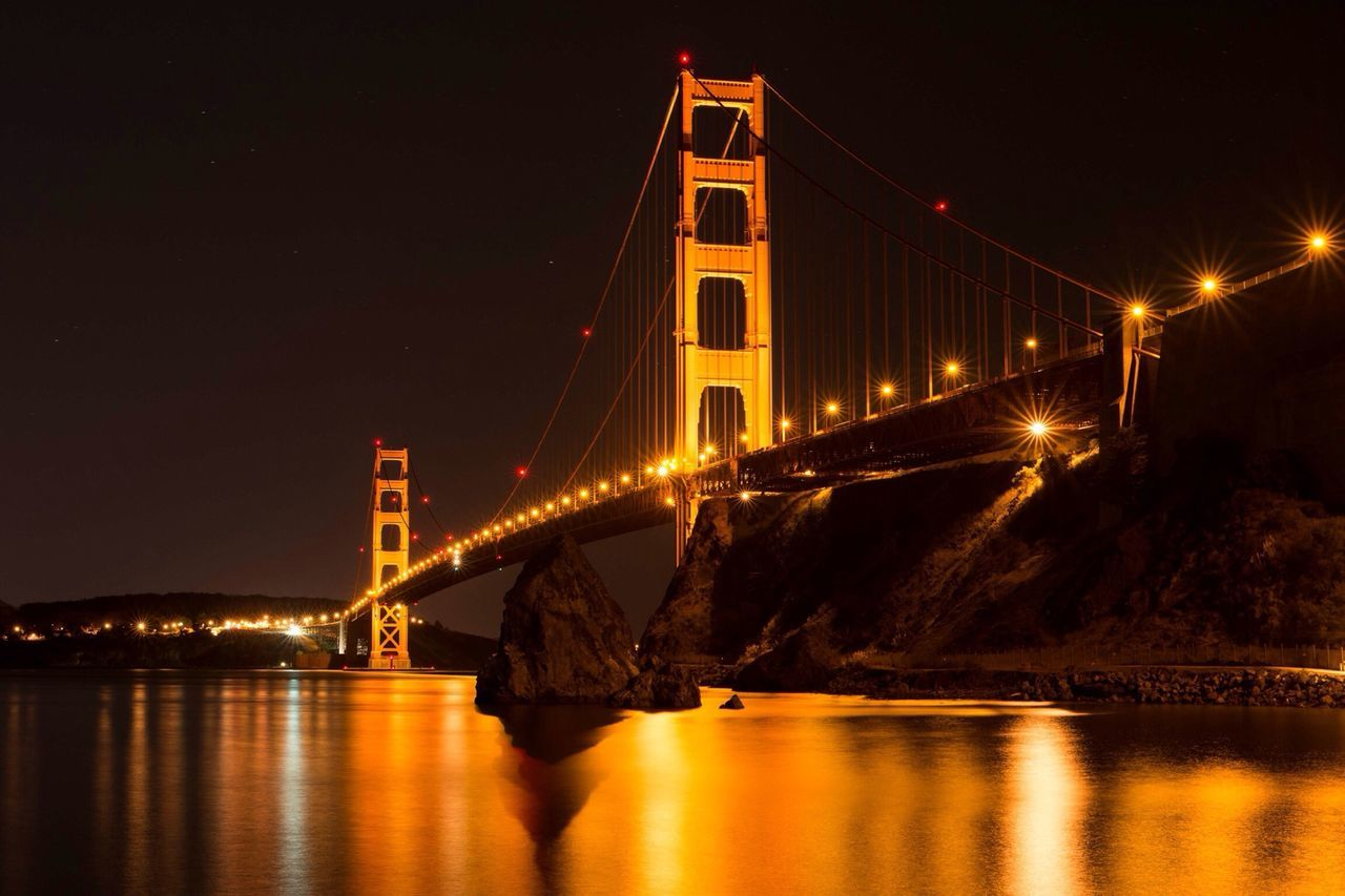 Beautiful stock photos of gold, Architecture, Bridge, Built Structure, Connection