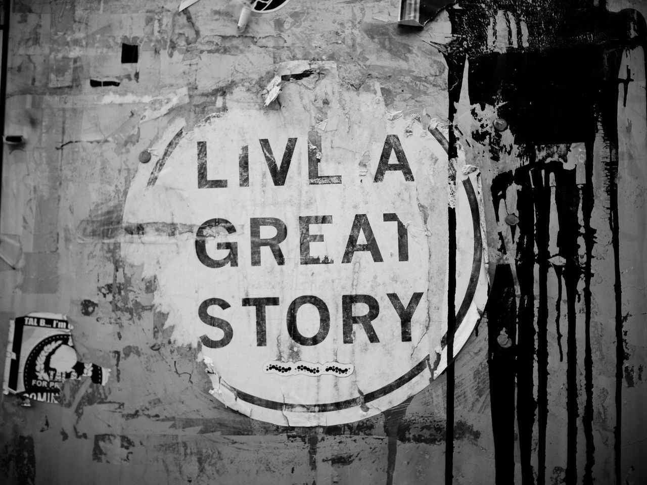 You can make it whatever you want. You can change it whenever you want. What's your story? CarryLessCreateMore LumixLuminary B&w