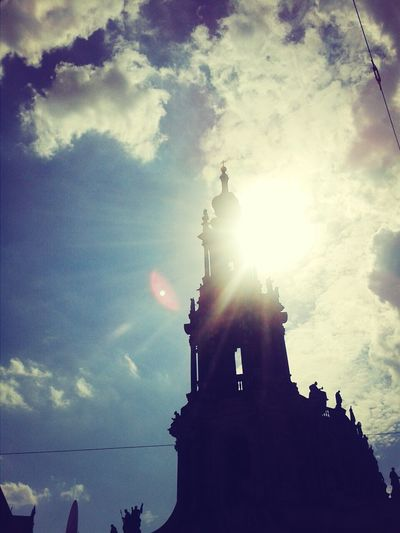 Hofkirche In Dresden Sunset And Clouds  Wonderful Day Stadtfest läuft^^ Dresden *-*