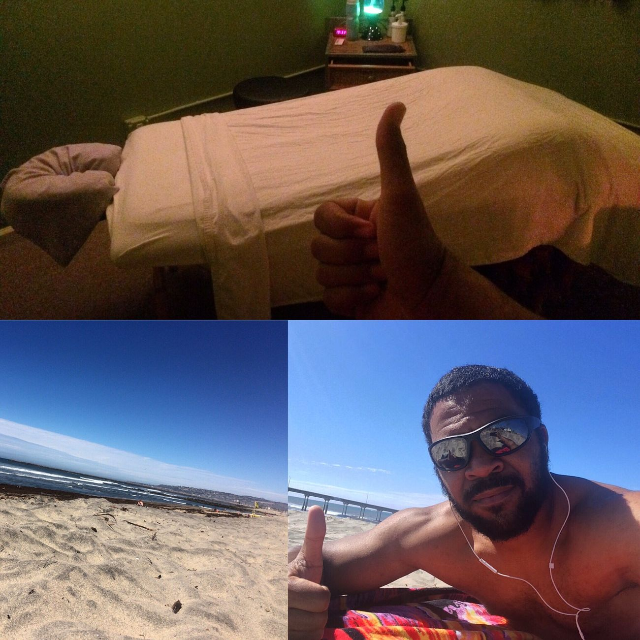 Not a bad day to get a massage and lay out on the beach. Massagetherapistlife Massage Therapy