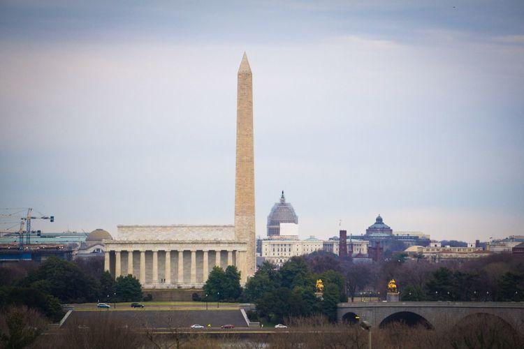Monumental. Washington, D. C. Lincoln Memorial Washington Monument US Capitol Building Library Of Congress