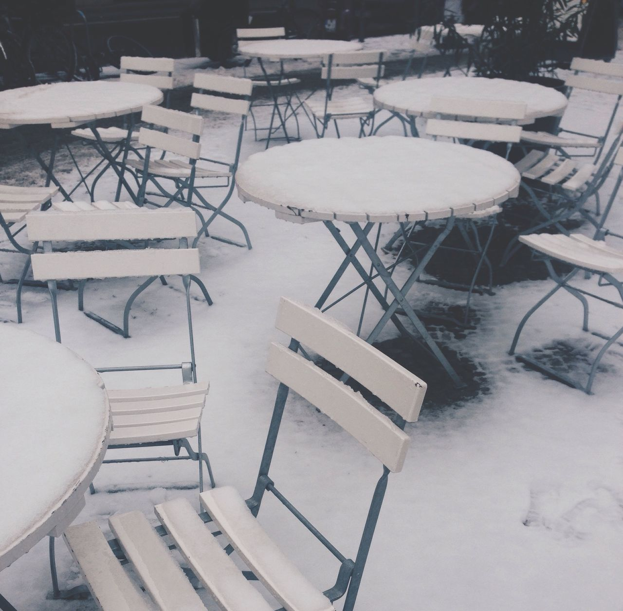 Snow Winter Cold Temperature Table Chair Snow ❄ White White Color Cold Silence Quiet Moments Peace