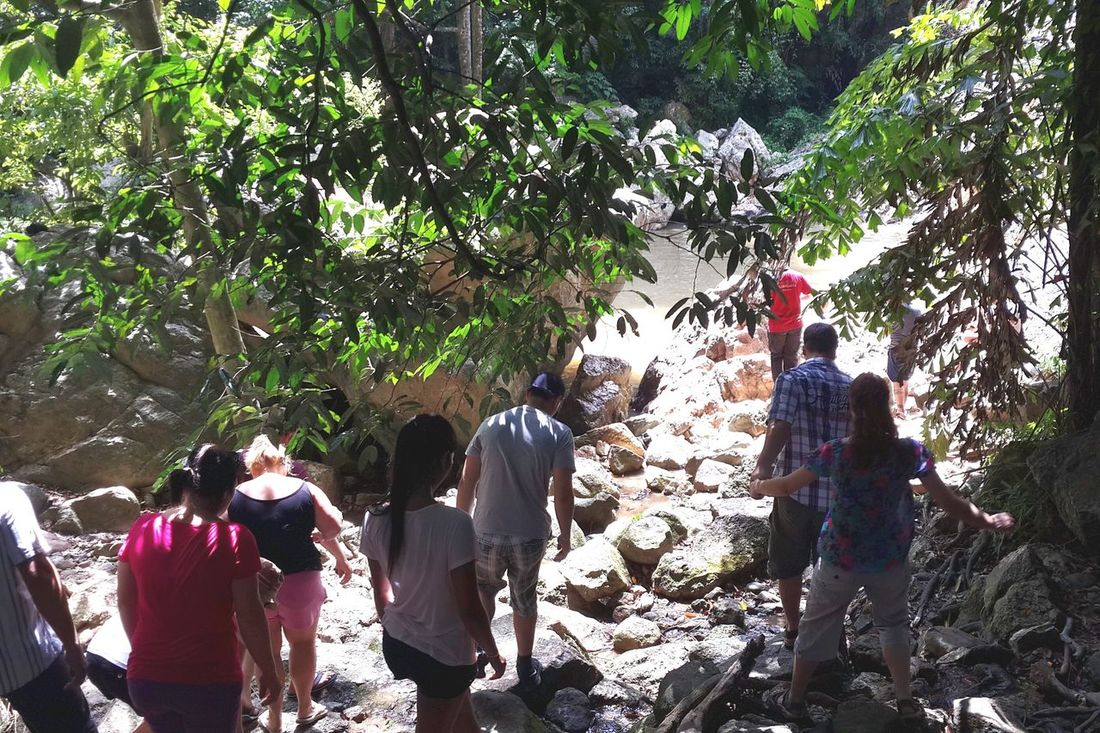 Adventure Time Adventure Adventure With Strangers Namuangwaterfall Koh Samui On The Way In The Forest Thailand Sanook Hanging Out