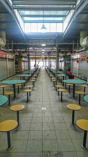 Toa Payoh Lorong 8 Hawker Centre (food & wet market) Singaporestreetphotography Indoors  Chair No People Day Architecture