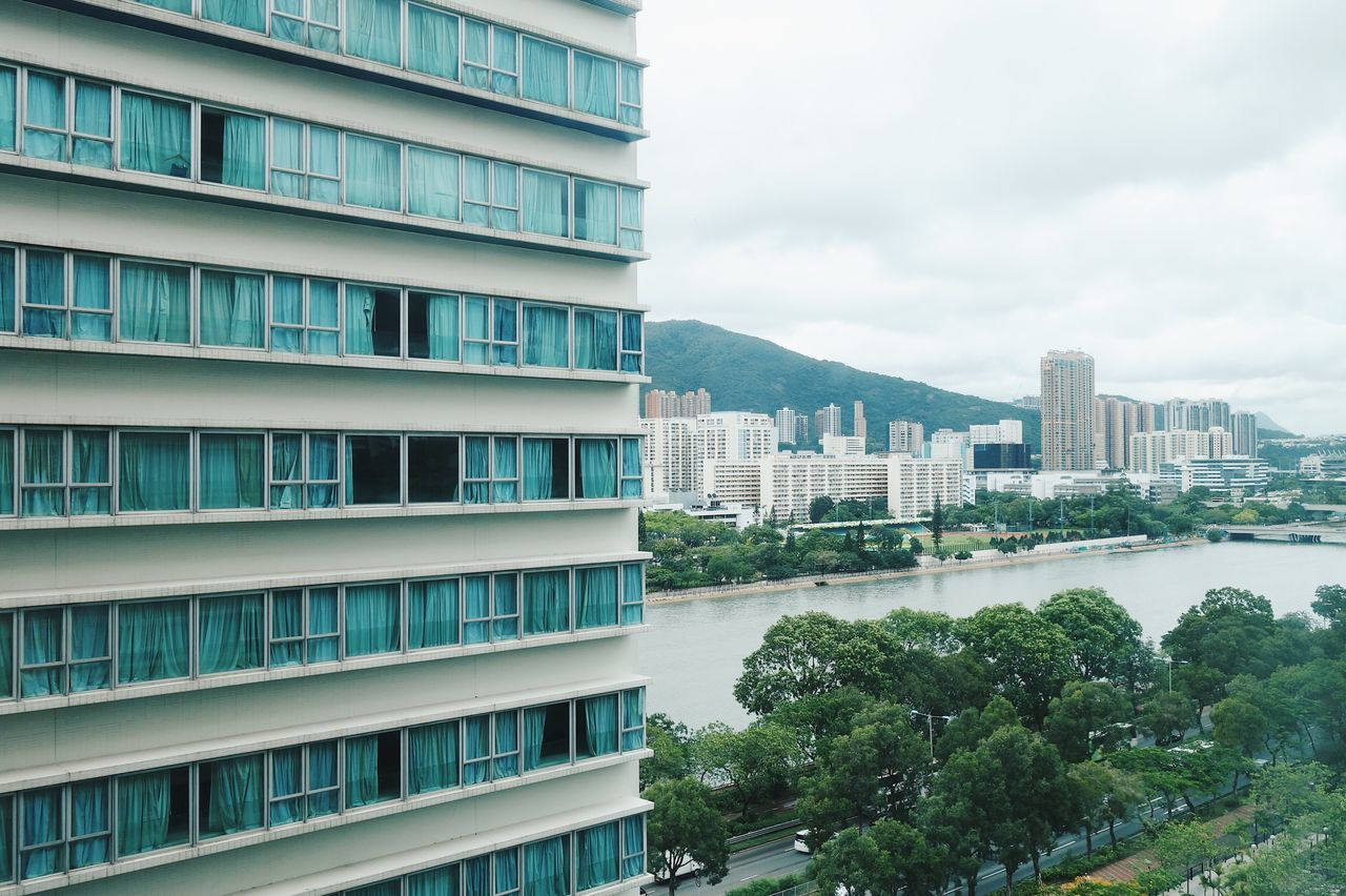 Architecture Building Exterior Built Structure No People Outdoors Cityscape Hotel Cloud - Sky Hong Kong City River Shing Mun River