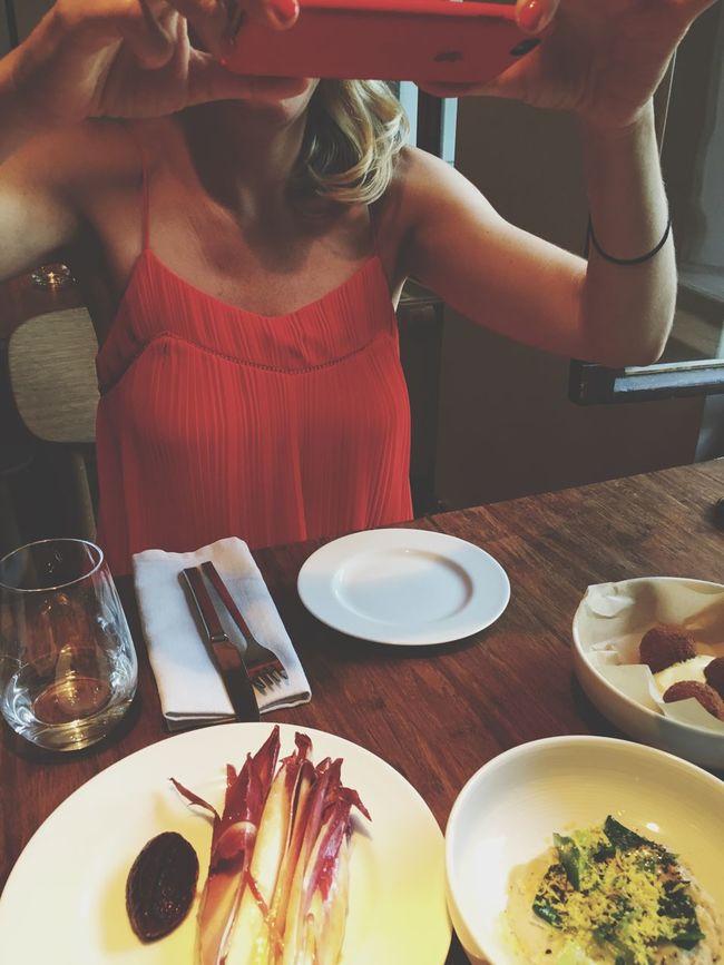 Taking Photos Of Food Foodie Foodporn People take ng photos Taking Photos Photographer Table Restaurant Dinner Eat