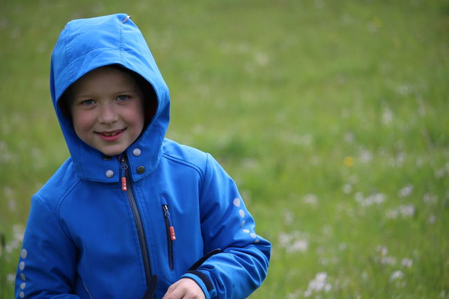 Blue Boy Free Happy Jacket Junge Meadow Nature Paddock Smile Colour Of Life