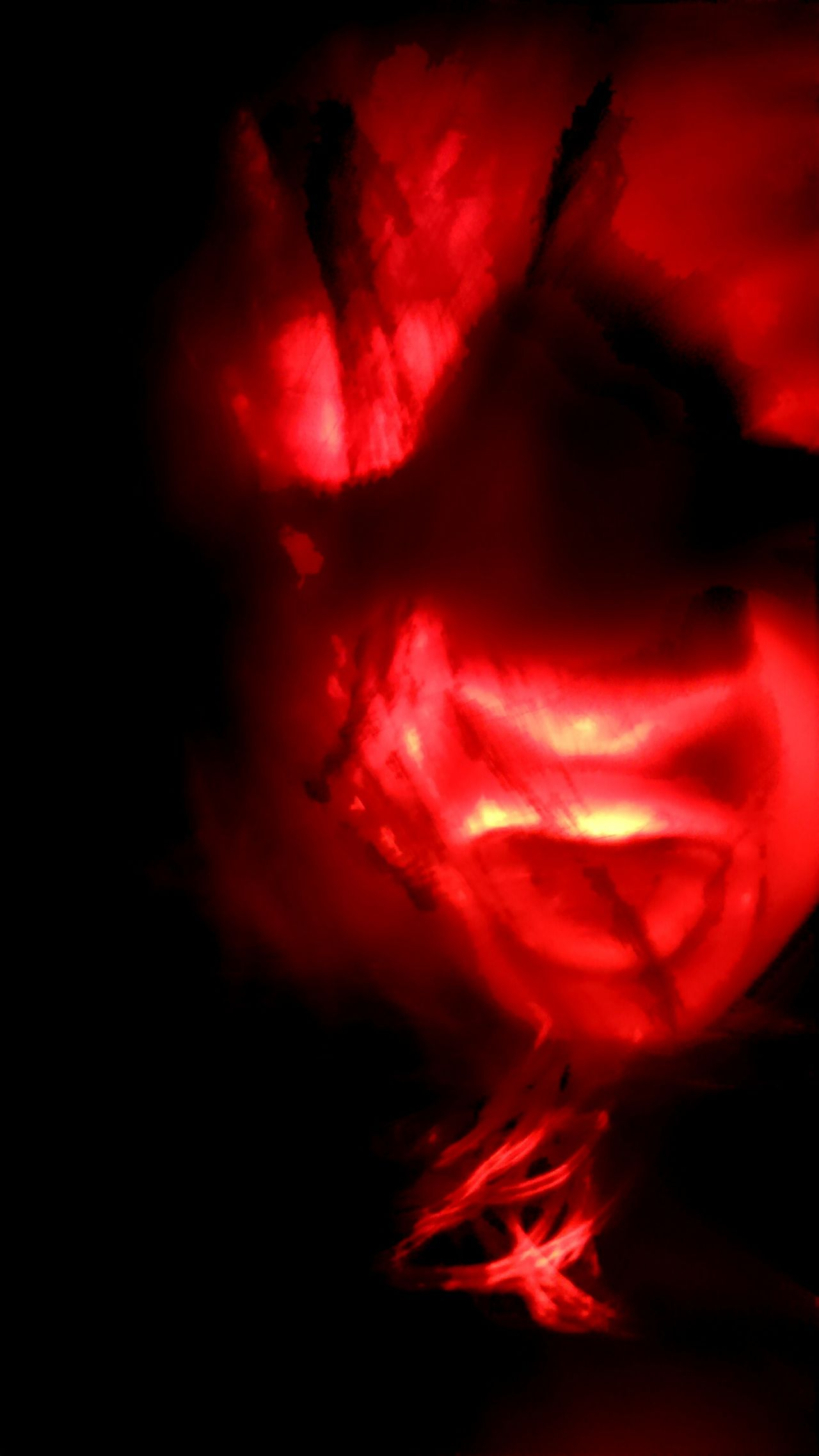Scary Stuff  Atmospheric Mood Vibrant Color Bonfire Kids Playing Glowing Dramatic Sky Majestic Power In Nature Ethereal Red Light Frightening Moment Ghost Face