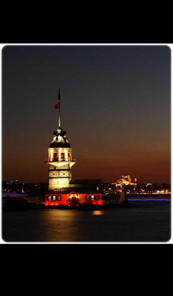 Tower Istanbul Turkey Kızkulesi First Eyeem Photo Nice Day Turkey Girltower Night No People Alonelife Sea Sky Holiday POV Great Vacations