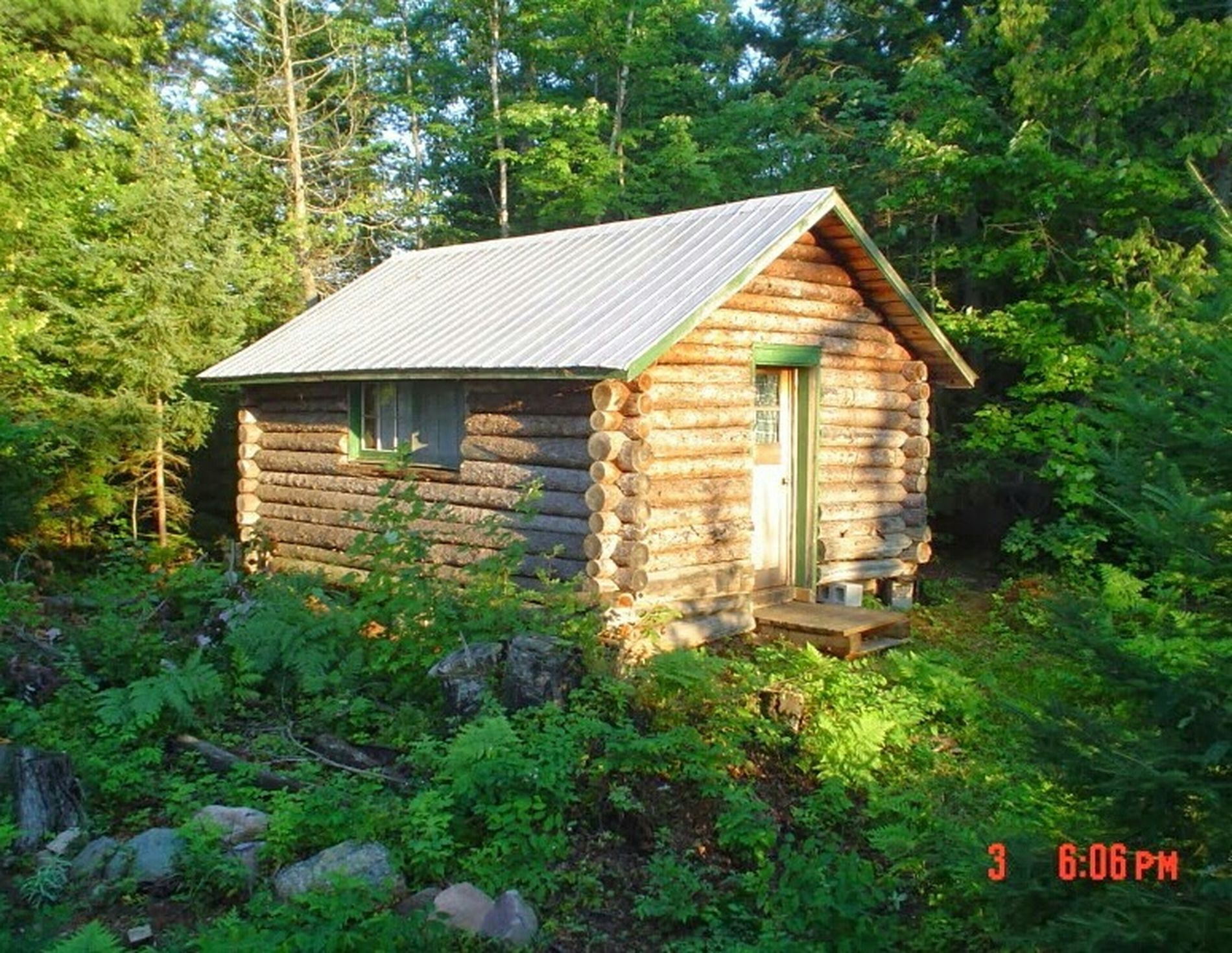 The old ice house Axe Lake Cabin