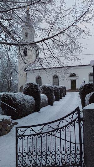 It's Cold Outside Törnevalla Kyrka Church Sverige Tourism Snow Covered Scandinavia Sweden Winter Östergötland Cold