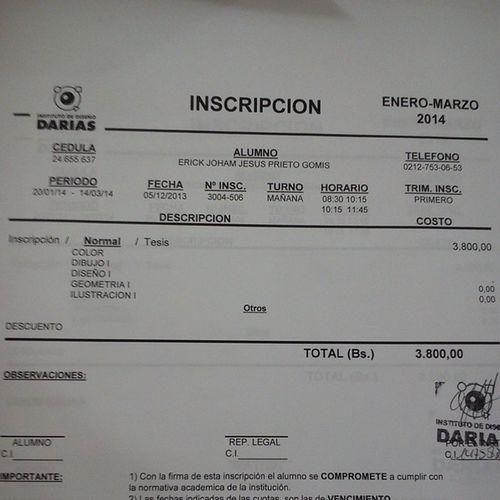 Inscripción Institute Darias