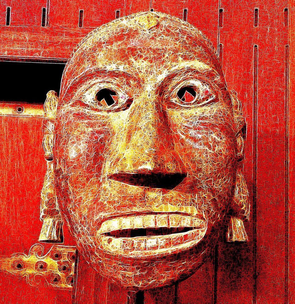 Mask Intriguing Art And Craft Sculpture Wood - Material Textured  Intriguing