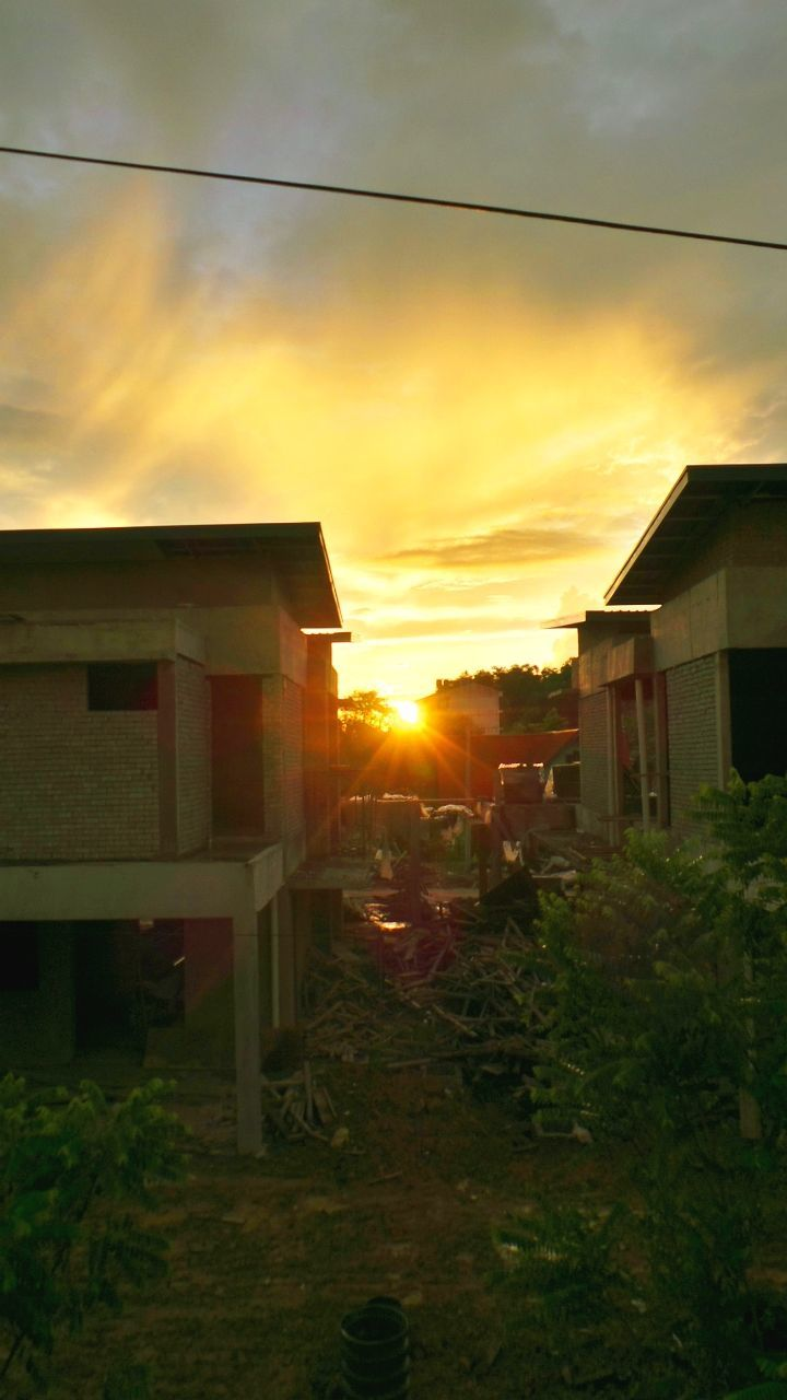 house, sunset, building exterior, built structure, architecture, no people, residential building, sky, outdoors, nature, day
