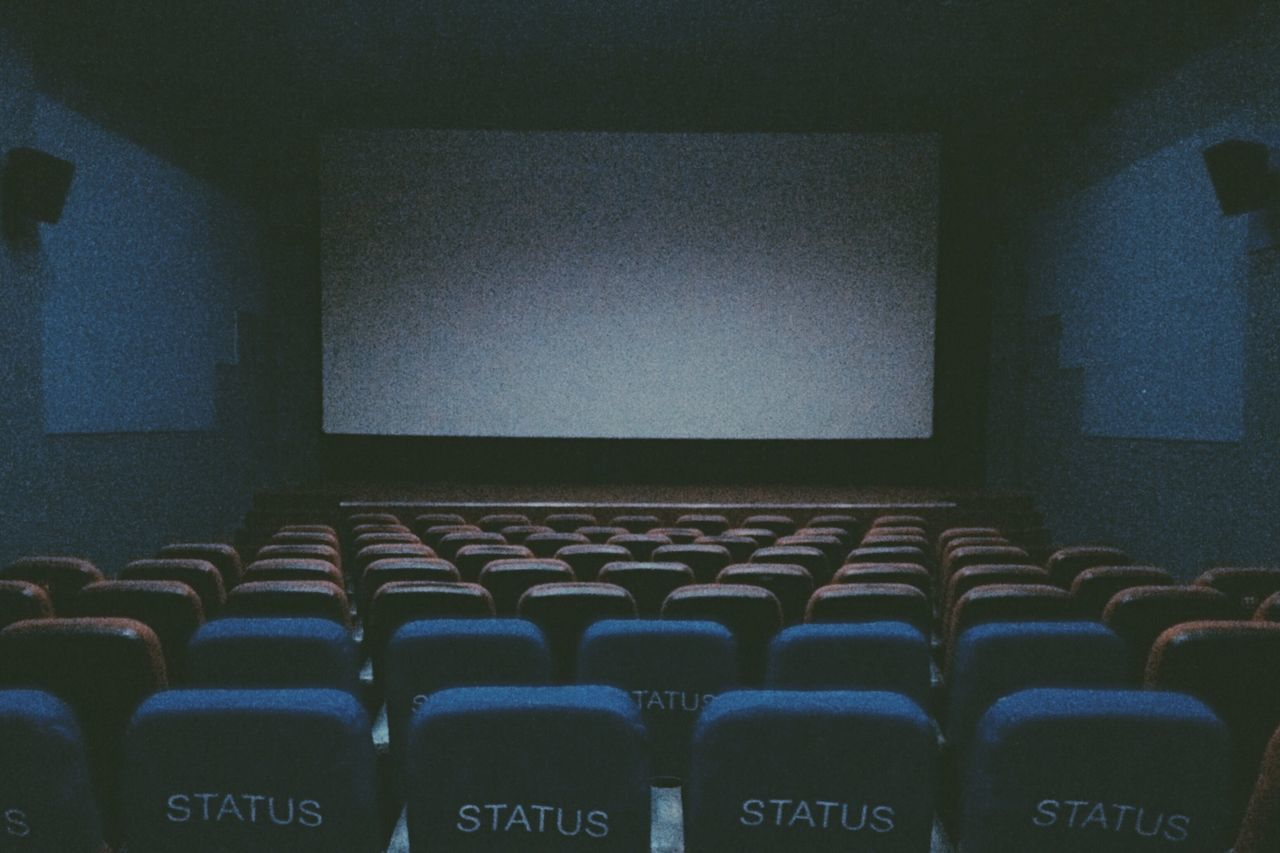indoors, in a row, empty, arts culture and entertainment, chair, seat, no people, large group of objects, auditorium, day, film industry