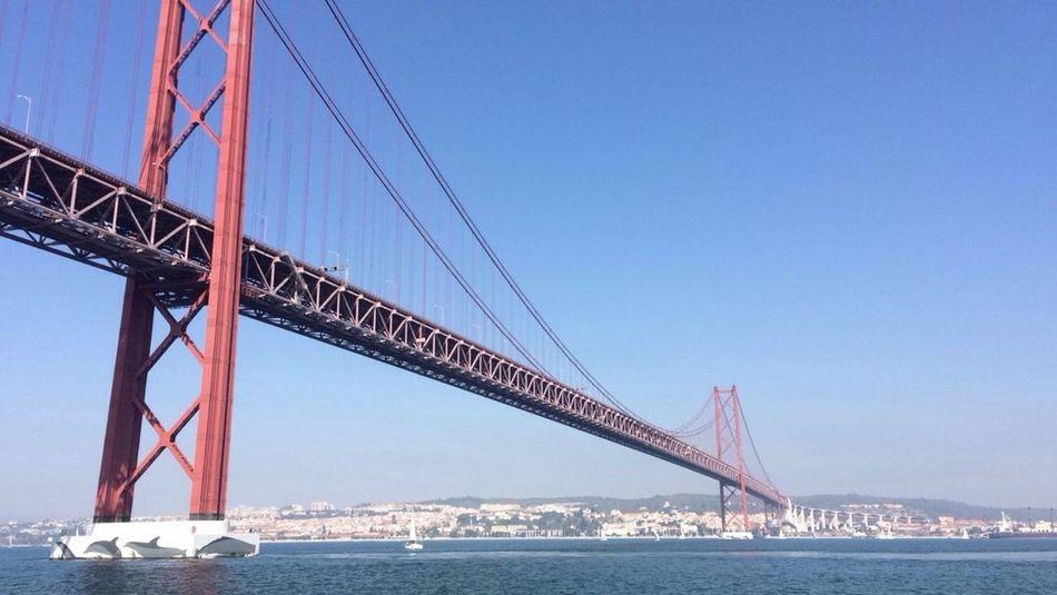 Bridge Ponte Lisboa Ponte 25 De Abril River Rio Tejo River Side Iron CF