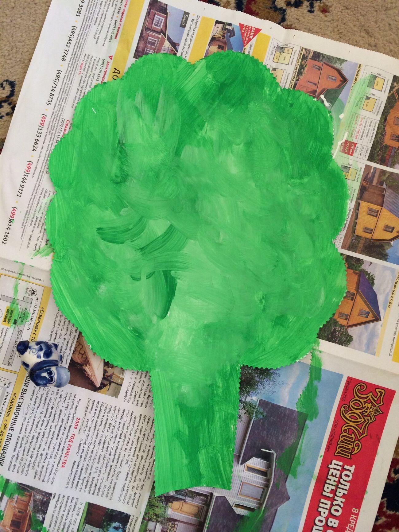 Первый опыт рисования кистью и красками Рисование развивашки