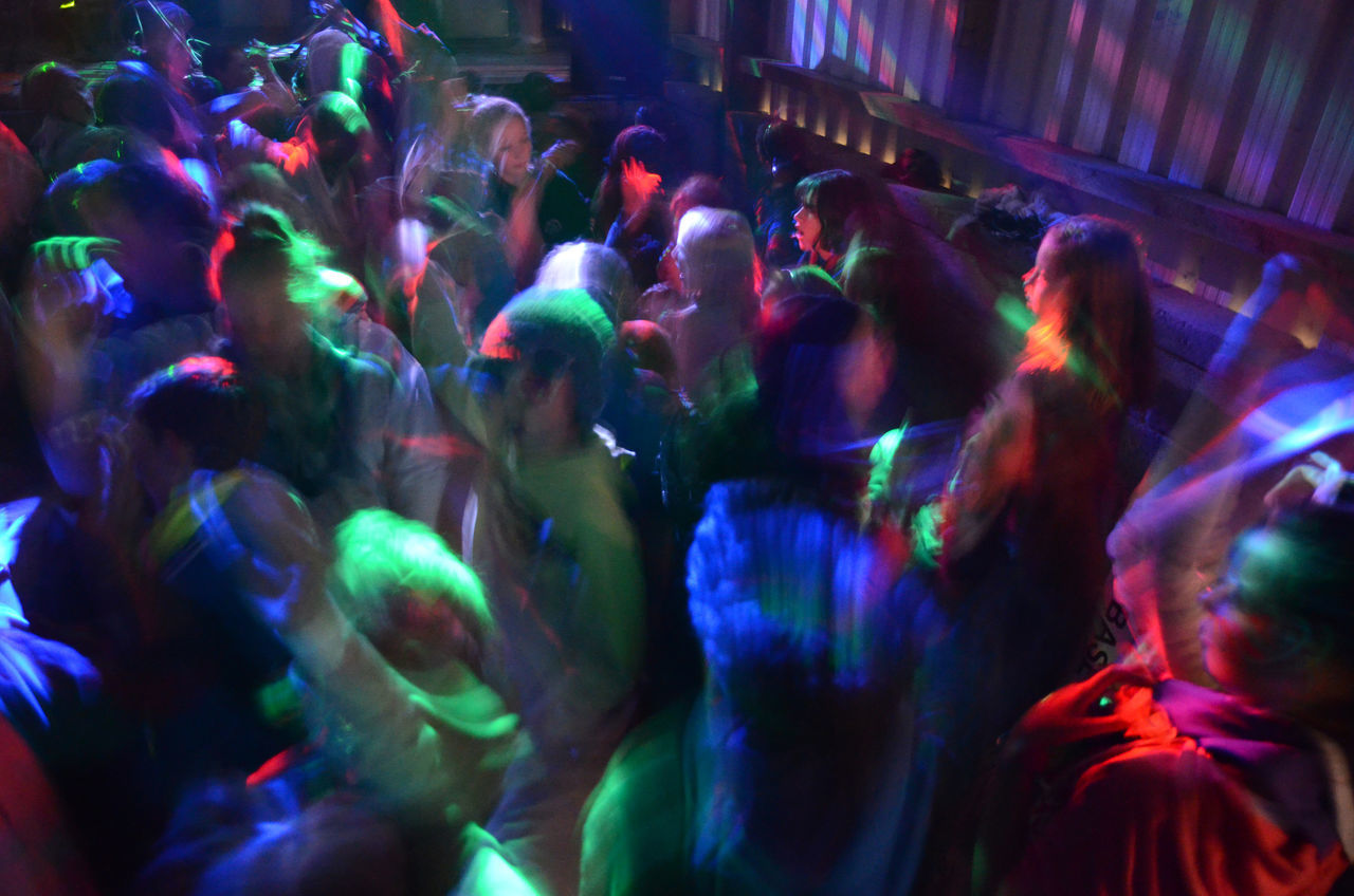 Beautiful stock photos of new year, Blurred Motion, Clubbing, Colorful, Crowd