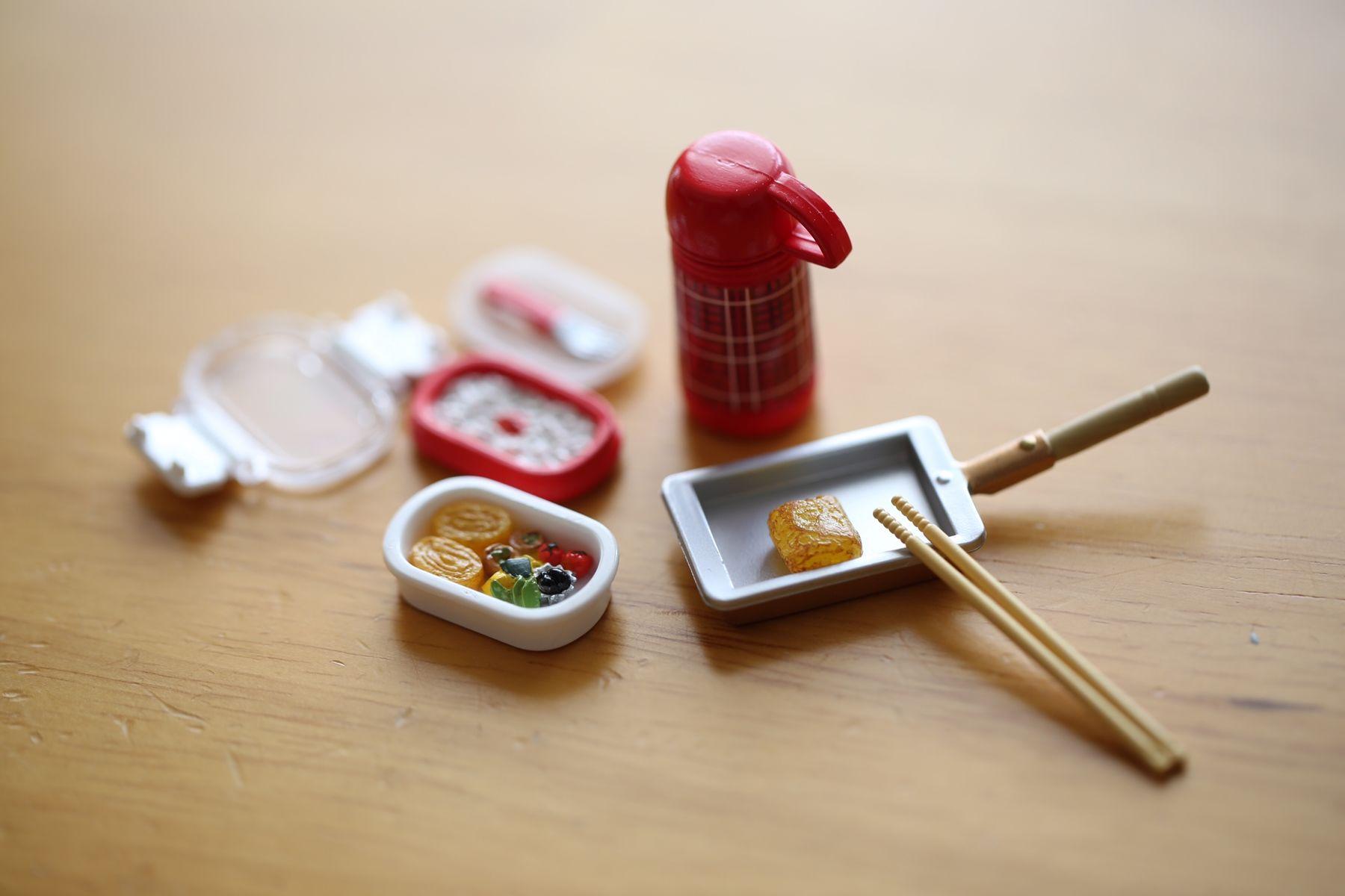 Cooking Miniature おべんとう たまご焼き 水筒 アラジン 菜箸 和食 Lunch