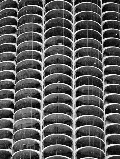 Architecture Chicago Marina Towers Rain Watching The Rain Looking Out Into The Rain One Person Pattern