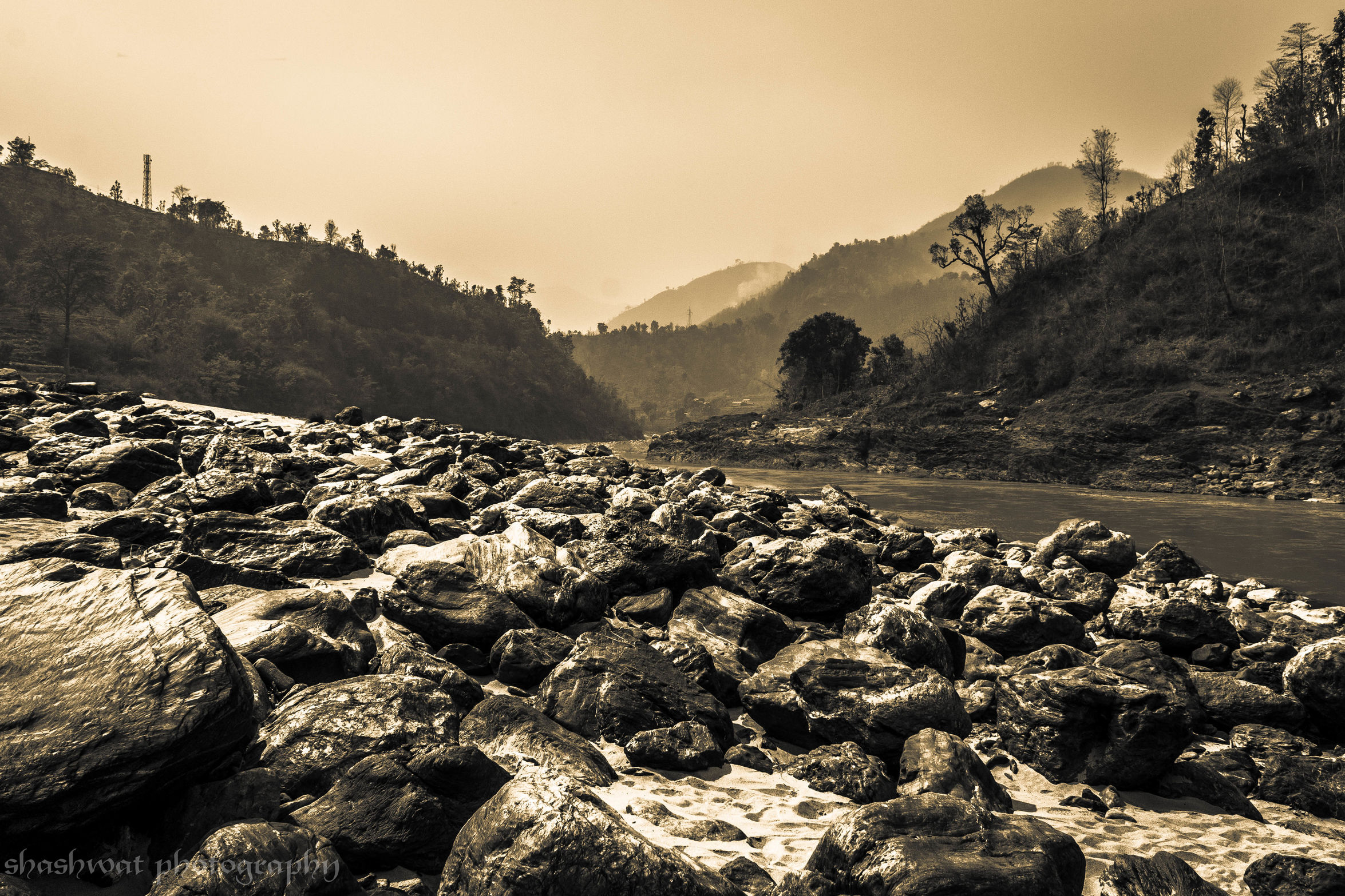 The rocky ride. Traveling Wanderlust Trishuli Riverside Rocks And Water Rocks Lightroom Canon_official Canon_photos
