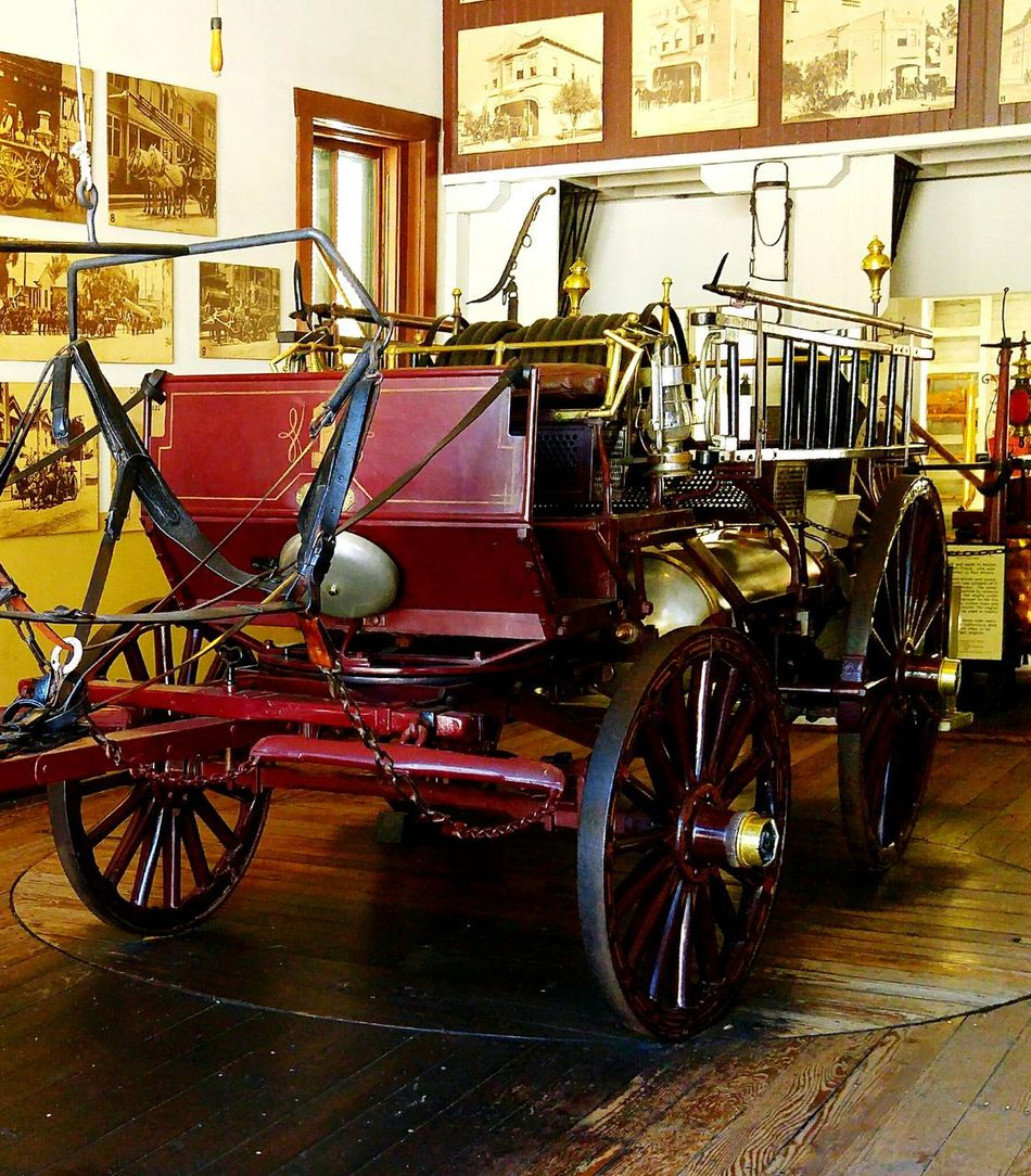 Old-fashioned Indoors  Transportation Firehouse Firestation Vintage Vehicles Vintage Fire Engine Vintage Firetruck DTLA Olvera Street