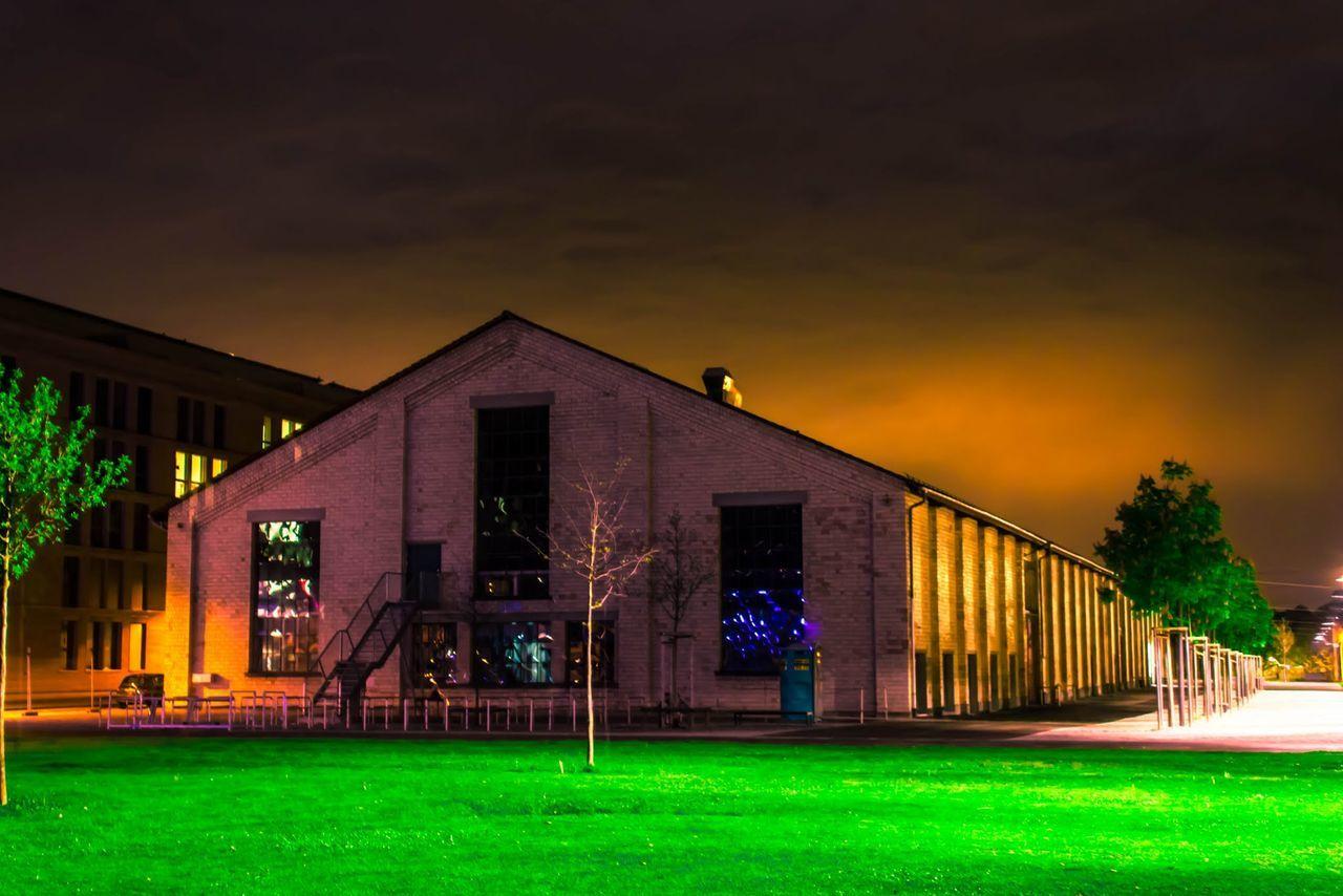 Illuminated Architecture No People Night