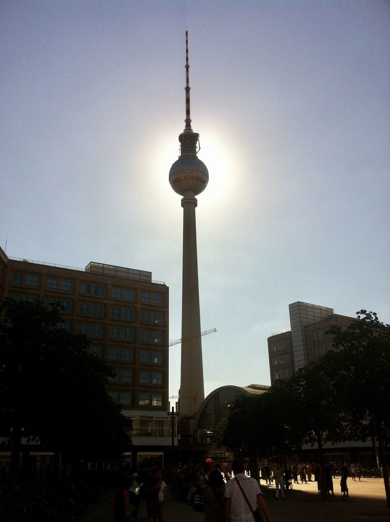 Architecture City Tower Tourism Built Structure Television Tower Building Exterior Communication Modern Outdoors Travel Destinations Sky Skyscraper People Tree Day Adult Berlin Fernsehturm Berlin  Fernsehturmberlin