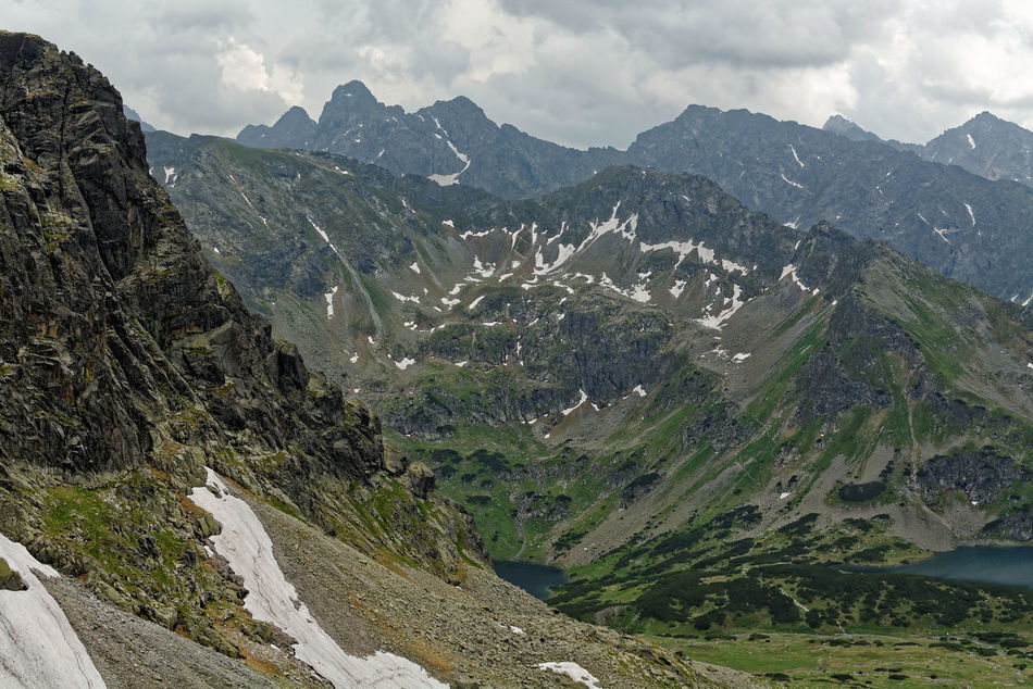 Great view of the High Tatras. Beauty In Nature Day High Mountains Hiking Mountain Mountain Panorama Mountain Range No People Outdoors Poland Is Beautiful Poland Mountains Polish Tatra National Park Sky Spring In The Mountains Summer Tatra Mountain Panorama
