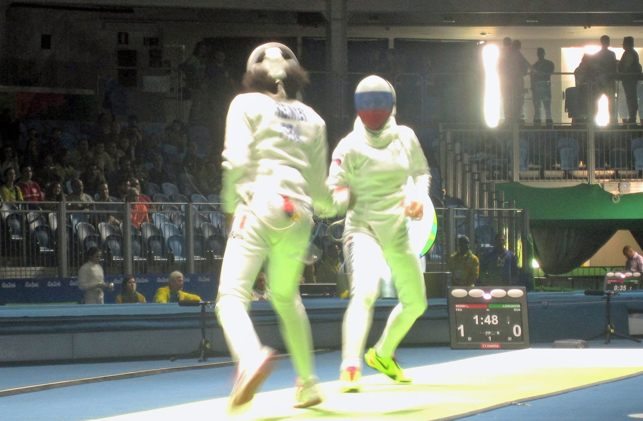 2016 Olymi 2016 Olympics Competition Fencing Full Length Indoors  Olympic Sport Togetherness
