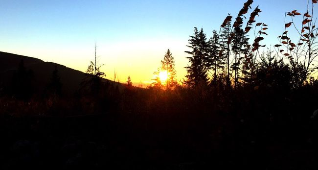 Beautiful sunrise on the westcoast