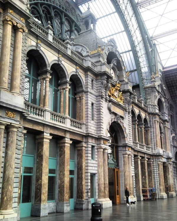 Anvers Antwerpen Centraal Architecture Built Structure Building Exterior Travel Destinations Arch City No People Day Sculpture Outdoors Tourism Place Of Antwerpencentraalstation Antwerpen, Belgium Anwerpencity Vacations